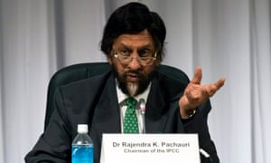 Rajendra Pachauri, Chairman of the Intergovernmental Panel on Climate Change (IPCC) speaks at a press conference in Yokohama