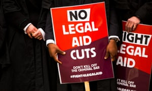 These protest are the third time this year that lawyers have taken direct action over legal aid cuts.