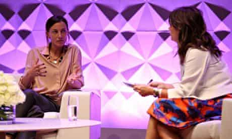 Phoebe Philo answers questions from Alexandra Shulman live on stage.