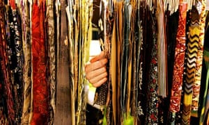 textiles hanging