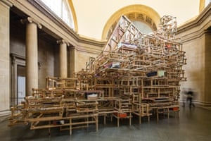 'Dock' by Phyllida Barlow at Tate Britain, London dock 2014 comprises seven interrelated works:.