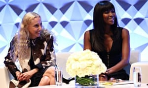 Naomi Campbell at the Vogue festival