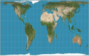 Gall-Peters equal projection map