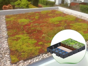 GreenGrid Modular Green Roof System by SealEco.