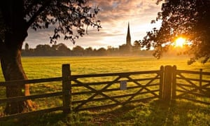 Salisbury cathedral on a beautiful morning