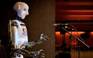 The national science photography competition 1st place in the Weird and Wonderful section and overall winner: photo of Human vs Robot, by Toby Harris