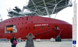 The Australian ship Ocean Shield is loaded with supplies and equipment before heading for setting off to try to locate the black box Malaysia Airlines Flight MH370.