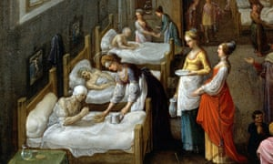 Painting (1598) by Adam Elsheimer of St Elizabeth visiting hospital patients