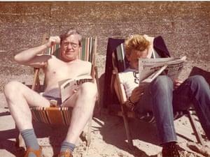 Punk sunbathing on the beach in 1981