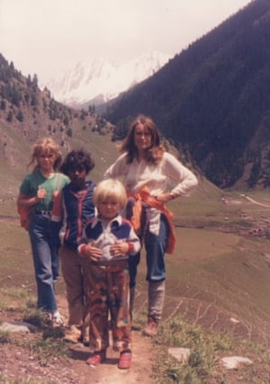 A family portrait in the Indian Himalayas near Manali, 1982