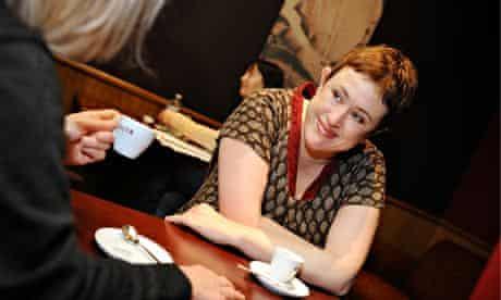 Clare Allan and social worker Bernadette
