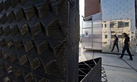 3-D printer producing a canal house