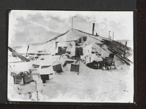 The expedition hut at Winter quarters, Cape Evans, October 1911.