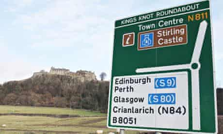 April fool Scottish independence road