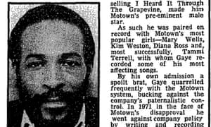 Guardian obituary of Marvin Gaye, 3rd April 1984