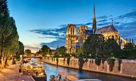Notre Dame cathedral at twilight