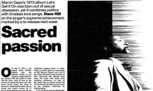 Guardian article, Marvin Gaye and Let's Get It On, 31st July 1998