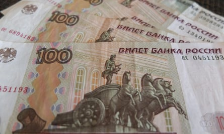 Russian Ruble dives to historic low. After Russian president Vladimir Putin announced the use of military force in Ukraine.
