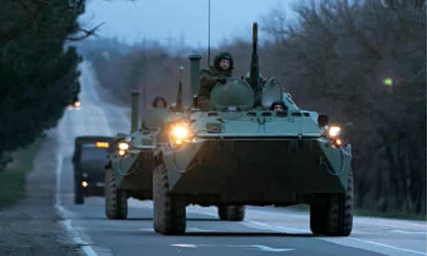 Russian troops near Sevastopol, Crimea, Ukraine
