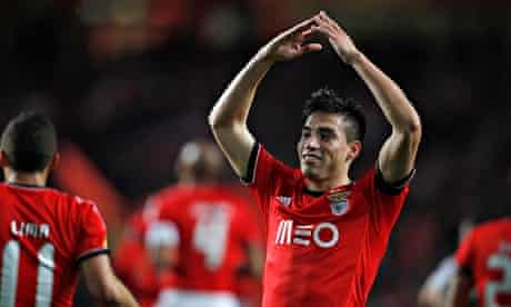 Benfica's Gaitan