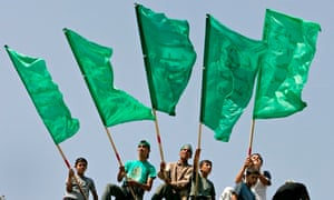 Hamas flags