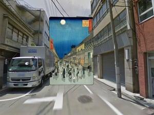 Night view of Saruwaka Street 1856 Hiroshige TOKYO copy(1)