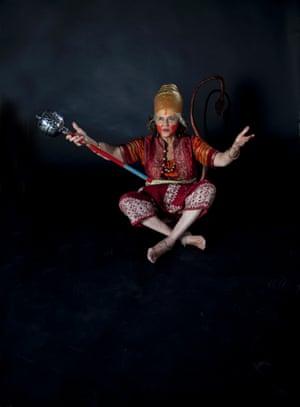 Jamila Gavin as Hanuman the monkey god from the Ramayana.