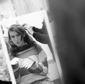 Katherine Rundell prepares for her photoshoot. Who do you think she is going to be?