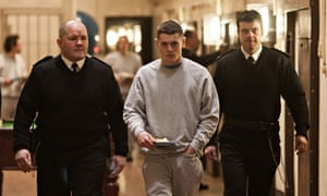 Jack O'Connell playing Eric in Starred Up
