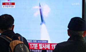 North Korea test fire missiles