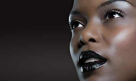 Woman wearing glittery make-up