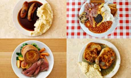 Plates of food rich in protein