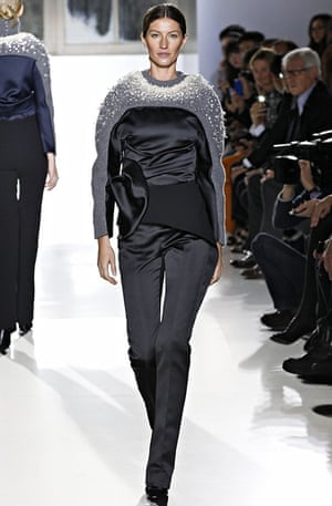 Gisele for Balenciaga Paris Fashion Week Womenswear Fall/Winter 2014-2015