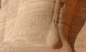 Victorian graffiti at Abu Simbel