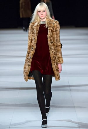Saint Laurent show Paris Fashion Week a/w14