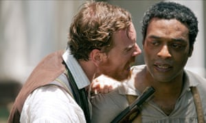 Chiwetel Ejiofor as Solomon Northup with Michael Fassbender in 12 Years a Slave.