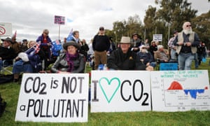 Anti-carbon tax protesters known as The Convoy of No Confidence