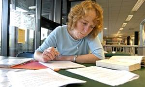A mature woman Student