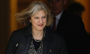 Britain's Home Secretary Theresa May leaving a Cabinet meeting at Number 10 Downing Street this week.