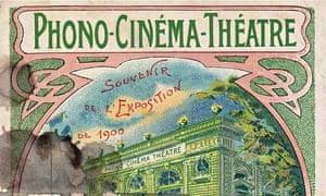 Poster for Phono Cinema theatre Paris 1900