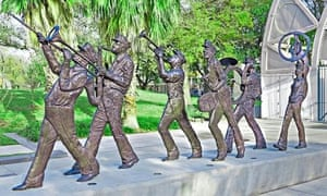 Brass Band Statue in Congo Square, New Orleans