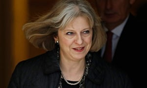 Home Secretary Theresa May and Defence Secretary Philip Hammond leave a cabinet meeting