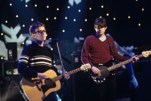 Damon Albarn and Alex James Later with Jools Holland.