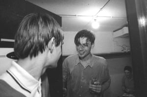 Alex James of Blur backstage at The Event in Brighton, 23 May 1994.