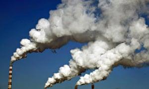 Smoke billows from Jilin chimneys