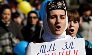 Crimean protester