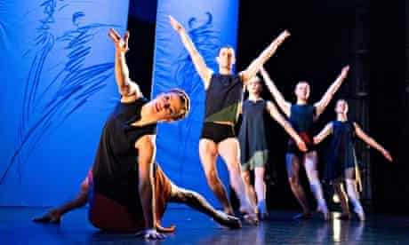 'Rewardingly fine': Yolande Yorke-Edgell (front) with members of the Yorke Dance Project at Sadler's