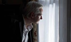 Julian Assange at the Ecuadorian embassy
