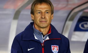 Coach Jurgen Klinsmann watches his team play Ukraine at Andonis Papadopoulos stadium in Larnaca, Cyprus, 05 March 2014.
