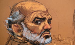 Suleiman Abu Ghaith, 48, sits in court in Manhattan.